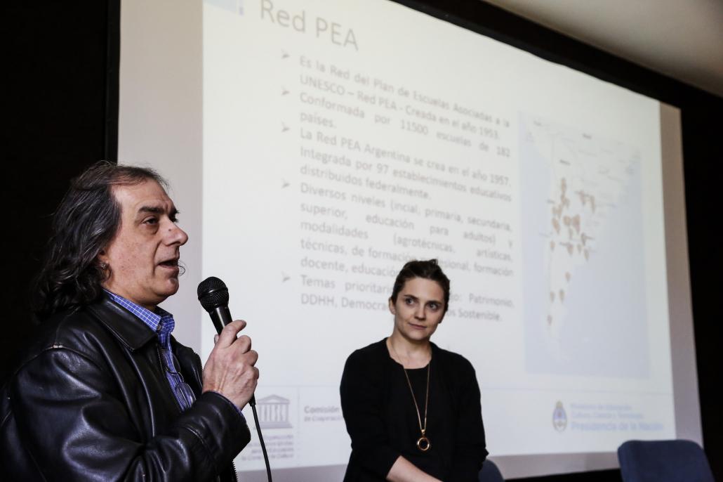 La jornada contó con la participación de docentes de la Red del Plan de Escuelas Asociadas de la Unesco (RedPEA).