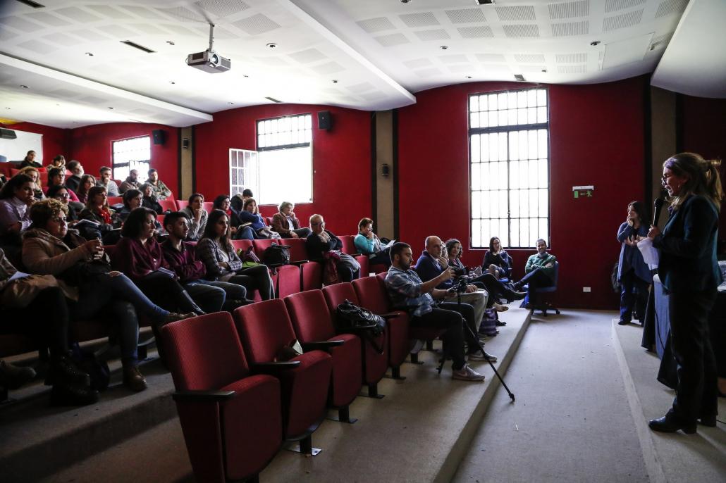De la jornada participaron, entre otros, Cecilia Flachsland y Daiana Gerschfeld, del programa Educación y Memoria del Ministerio de Educación.