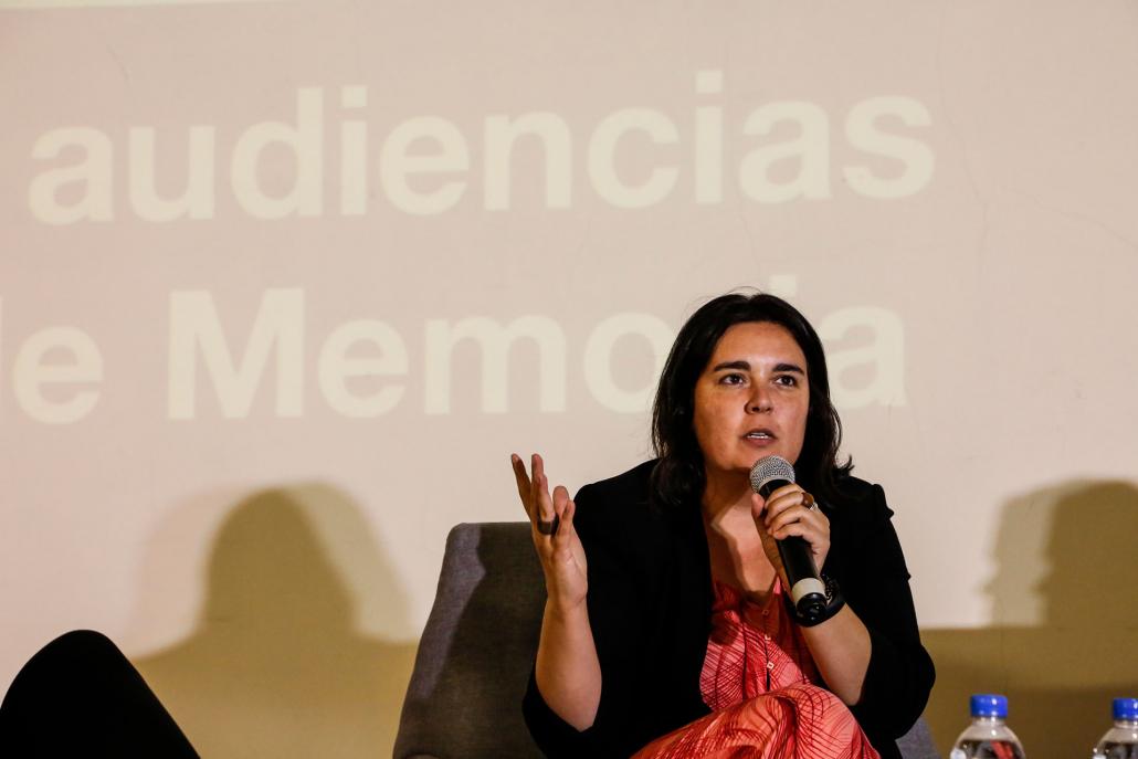 """Maider Maraña, consultora e investigadora en la Cátedra Unesco de Paisajes Culturales y Patrimonio de la Universidad del País Vasco, España, destacó en una conferencia magistral la importancia de abordar """"de modo reflexivo"""" la inclusión y participación de los distintos públicos en los Sitios de Memoria."""