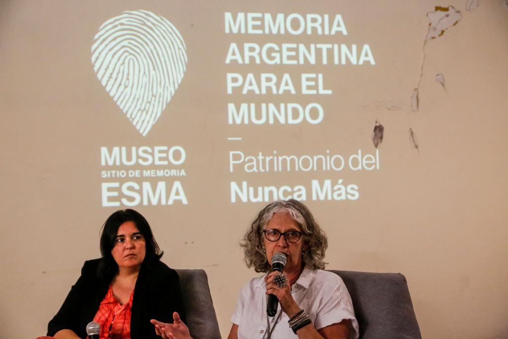 Alejandra Naftal, directora ejecutiva del Museo Sitio de Memoria ESMA, manifestó la necesidad de pensar los temas propuestos en la jornada junto a otros Sitios de Memoria del país.